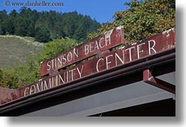 california, center, community, horizontal, marin, marin county, north bay, northern california, signs, stinson beach, wedding, west coast, western usa, photograph