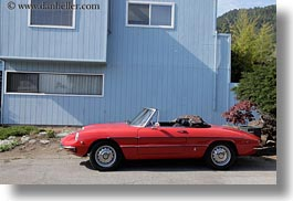 blues, california, cars, horizontal, houses, marin, marin county, north bay, northern california, red, stinson beach, wedding, west coast, western usa, photograph