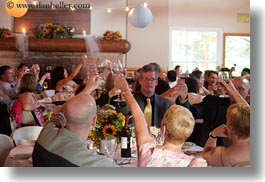 california, glasses, groups, horizontal, marin, marin county, north bay, northern california, reception, stinson beach, toasting, wedding, west coast, western usa, wines, photograph