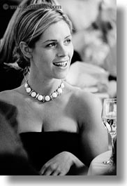 black and white, california, lisa, marin, marin county, necklace, north bay, northern california, pearl, reception, stinson beach, vertical, wedding, west coast, western usa, photograph