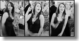 black and white, california, dancing, horizontal, marin, marin county, north bay, northern california, reception, sasha, stinson beach, triptych, wedding, west coast, western usa, photograph