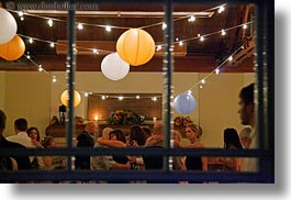 california, glow, horizontal, lanterns, lights, marin, marin county, north bay, northern california, parties, stinson beach, wedding, west coast, western usa, windows, photograph