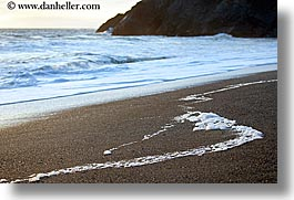 beaches, california, close ups, horizontal, marin, marin county, north bay, northern california, san francisco bay area, suds, waves, west coast, western usa, photograph