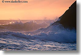 california, horizontal, marin, marin county, north bay, northern california, rock crash, rocks, san francisco bay area, splash, waves, west coast, western usa, photograph
