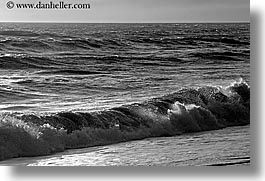 black and white, california, horizontal, marin, marin county, north bay, northern california, san francisco bay area, single waves, singles, waves, west coast, western usa, photograph
