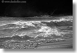 black and white, california, horizontal, marin, marin county, north bay, northern california, san francisco bay area, tiered, tiered waves, waves, west coast, western usa, photograph