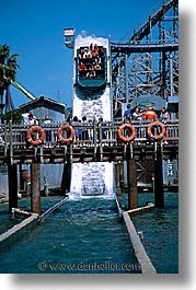 california, flags, marine world, rides, six, vertical, west coast, western usa, photograph