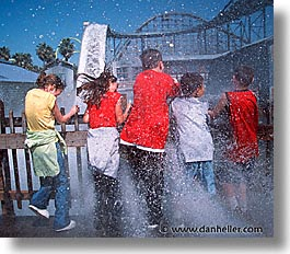 california, flags, horizontal, marine world, rides, six, west coast, western usa, photograph