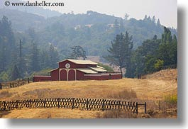 barn, buildings, california, hills, horizontal, mendocino, nature, scenics, west coast, western usa, photograph