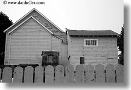 buildings, california, fences, gray, horizontal, mendocino, structures, west coast, western usa, photograph