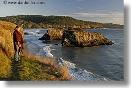 california, coastline, horizontal, jills, mendocino, ocean, people, viewing, west coast, western usa, womens, photograph