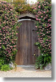 california, doors, flowers, mendocino, nature, vertical, west coast, western usa, photograph