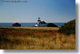 buildings, california, days, fields, horizontal, light house, lighthouses, mendocino, structures, west coast, western usa, photograph
