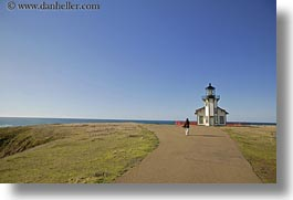 buildings, california, days, horizontal, light house, lighthouses, mendocino, roads, structures, west coast, western usa, photograph