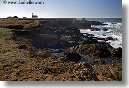 california, days, horizontal, light house, lighthouses, mendocino, rockies, shoreline, west coast, western usa, photograph