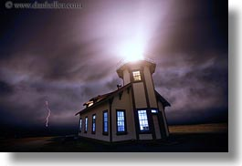 buildings, california, fog, glow, horizontal, lighthouses, lightning, lights, long exposure, mendocino, nature, nite, structures, west coast, western usa, windows, photograph