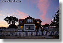 bed and breakfast, blues, california, clouds, colors, horizontal, houses, lighthouses, mendocino, nature, pink, sky, slow exposure, west coast, western usa, photograph