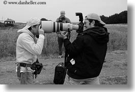 artists, big, black and white, california, cameras, dans, horizontal, lens, men, mendocino, people, photographers, west coast, western usa, photograph