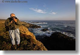 artists, california, cameras, horizontal, howard, men, mendocino, ocean, people, photographers, photographing, west coast, western usa, photograph