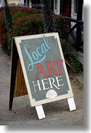 arts, california, mendocino, signs, vertical, west coast, western usa, photograph