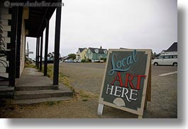arts, california, horizontal, mendocino, signs, west coast, western usa, photograph