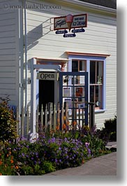 california, frankies, ice cream, mendocino, shops, signs, vertical, west coast, western usa, photograph