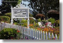 california, fences, headlands, horizontal, inn, mendocino, signs, structures, west coast, western usa, photograph