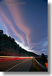 california, clouds, highways, lenticular, long exposure, mono lake, vertical, west coast, western usa, photograph