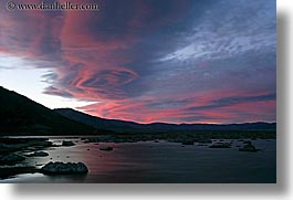 california, clouds, horizontal, lakes, lenticular, long exposure, mono, mono lake, sunsets, west coast, western usa, photograph