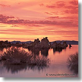 california, lakes, mono, mono lake, square format, sunrise, west coast, western usa, photograph