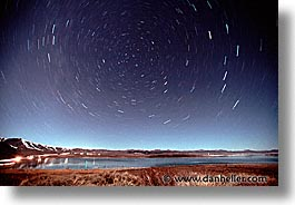 california, horizontal, mono lake, nite, star trails, stars, trails, west coast, western usa, photograph