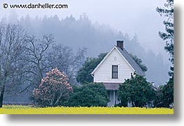california, horizontal, houses, napa, west coast, western usa, photograph