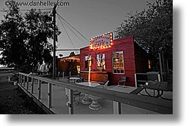 cafes, california, color composite, color/bw composite, horizontal, nipton, slow exposure, west coast, western usa, whistlestop, photograph