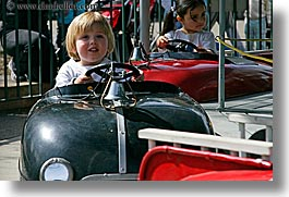 amusement park ride, boys, california, cars, childrens, happy, horizontal, jacks, oakland zoo, rides, toddlers, west coast, western usa, photograph