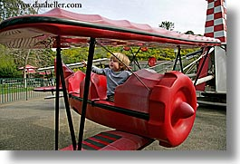 airplane, amusement park ride, boys, california, childrens, horizontal, jacks, oakland zoo, red, toddlers, west coast, western usa, photograph