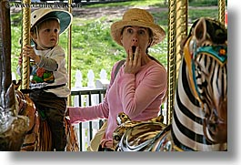 amusement park ride, boys, california, childrens, hats, horizontal, jacks, merry go round, oakland zoo, toddlers, west coast, western usa, photograph