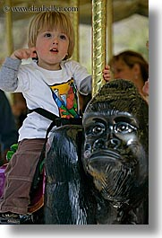 amusement park ride, boys, california, childrens, jacks, merry go round, oakland zoo, toddlers, vertical, west coast, western usa, photograph