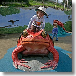 boys, california, childrens, frog, hats, jacks, oakland zoo, red, square format, toddlers, west coast, western usa, photograph