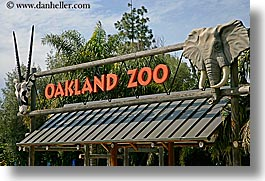 california, horizontal, oakland zoo, signs, west coast, western usa, photograph