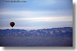 air, balloons, california, horizontal, hot, mountains, nature, palm springs, west coast, western usa, photograph