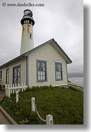 california, houses, lighthouses, pigeon point lighthouse, vertical, west coast, western usa, photograph