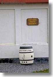 barrels, california, pigeon point lighthouse, signs, vertical, west coast, western usa, photograph