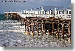 beaches, california, horizontal, hotels, nature, ocean, piers, san diego, water, waves, west coast, western usa, photograph