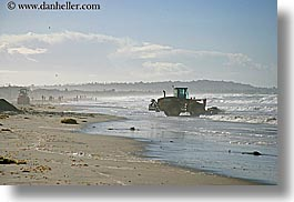 beaches, california, horizontal, nature, ocean, san diego, tractor, water, waves, west coast, western usa, photograph