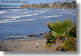 beaches, california, horizontal, nature, ocean, running, san diego, water, waves, west coast, western usa, womens, photograph