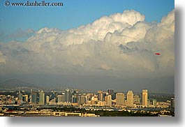california, cityscapes, clouds, cumulous, horizontal, san diego, west coast, western usa, photograph
