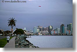california, cityscapes, horizontal, runners, san diego, sidewalks, slow exposure, west coast, western usa, photograph