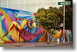 abstracts, california, horizontal, murals, san francisco, west coast, western usa, photograph