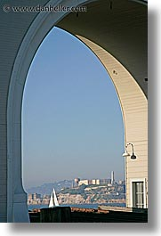 alcatraz, arches, california, san francisco, vertical, views, west coast, western usa, photograph