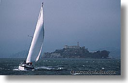 alcatraz, boats, california, horizontal, san francisco, west coast, western usa, photograph